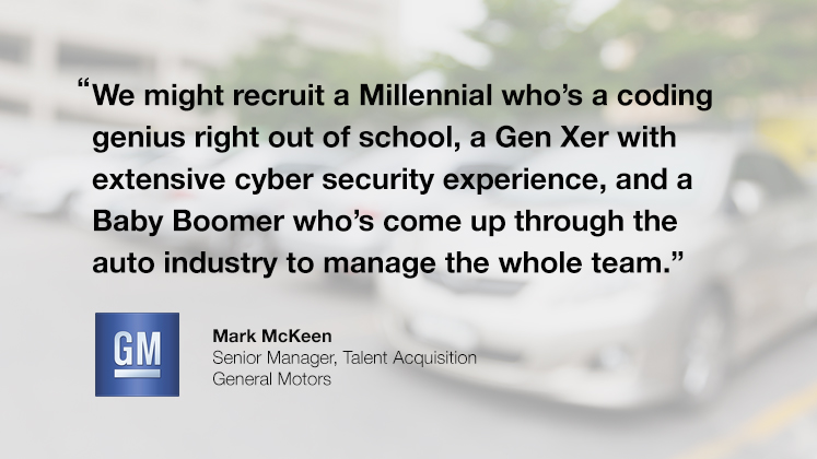 GM is building teams of Millennials and Baby Boomers to innovate the automotive industry