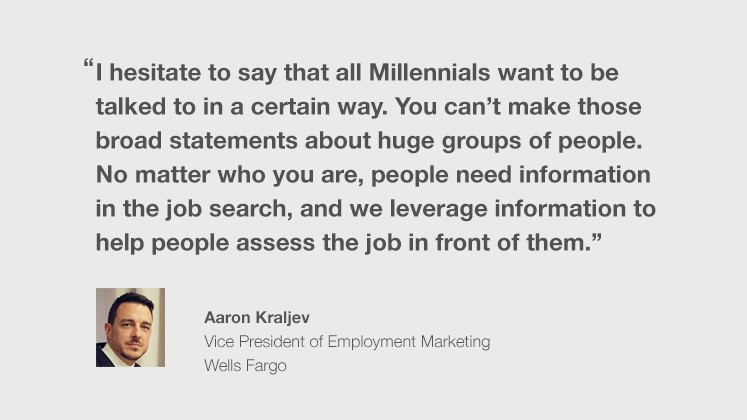 How Wells Fargo attracts candidates from every generation.