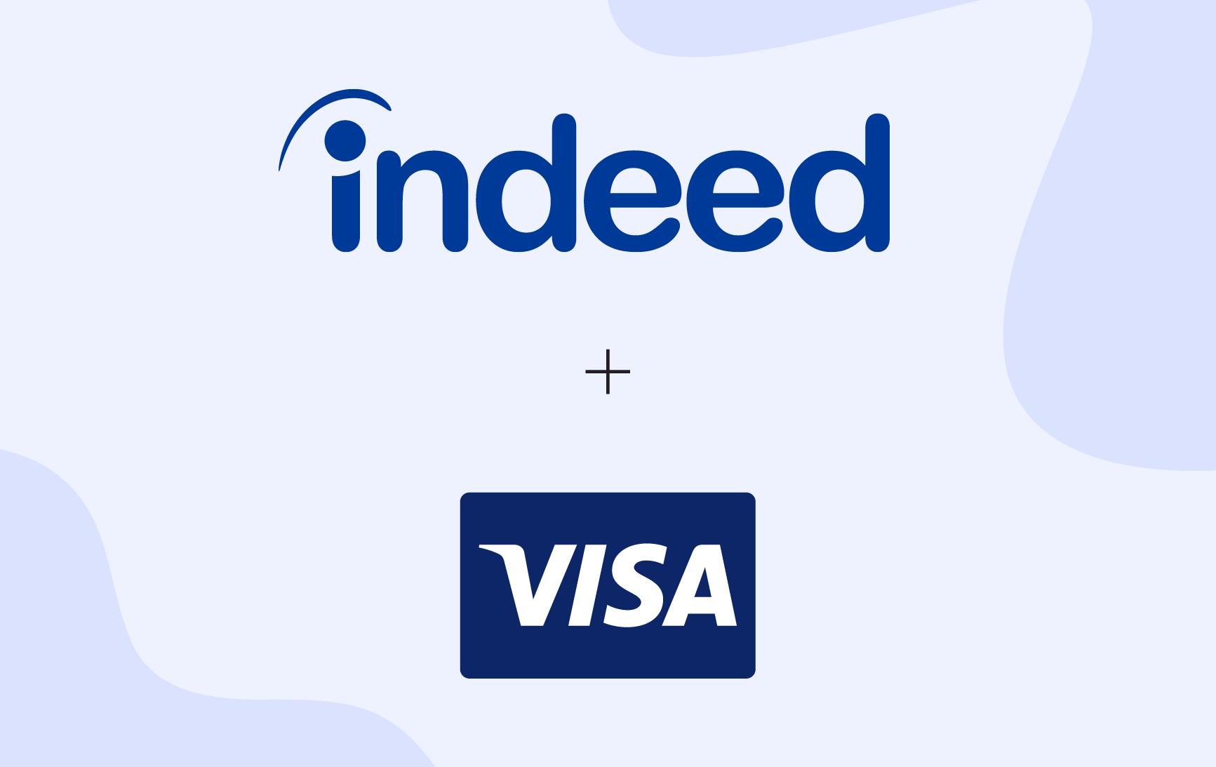 Indeed and Visa logos