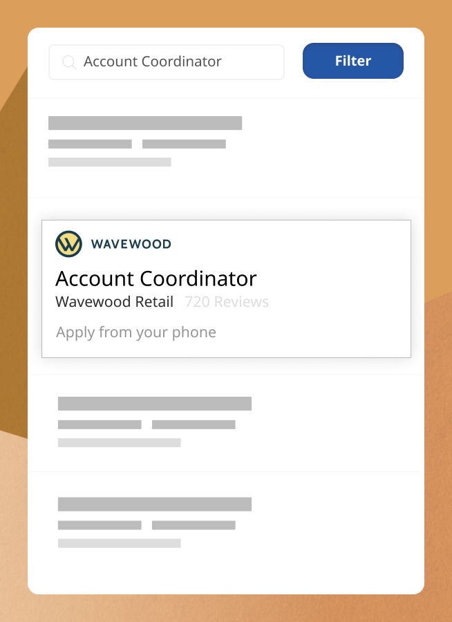 Featured employer job listing with added company logo to show how your listing will stand out against competitors